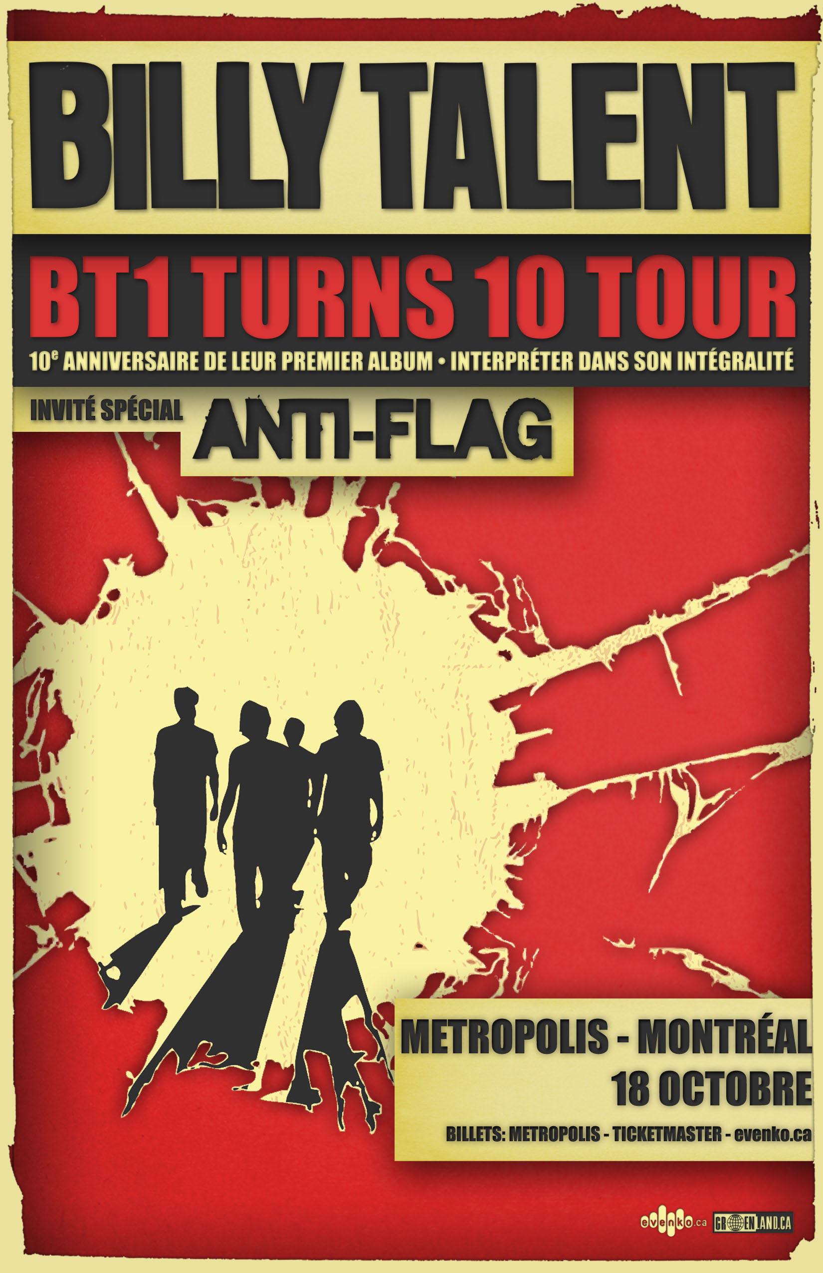 131018_BillyTalent_poster