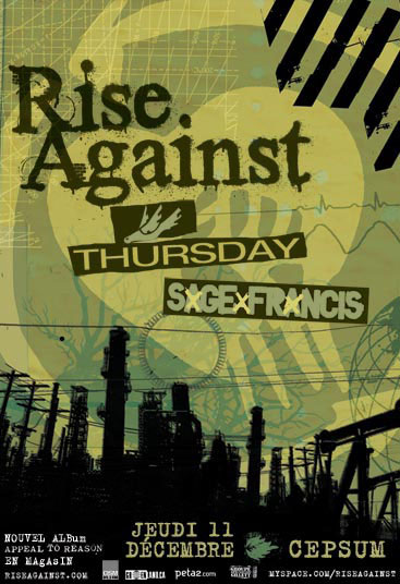 RiseAgainst(Dec08)flyer